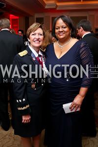 Army Surgeon General Lt. Gen. Patty Horoho,  Former US Surgeon General Regina Benjamin. Photo by Tony Powell. 2015 DC Heart Ball. Mandarin Oriental. February 28, 2015