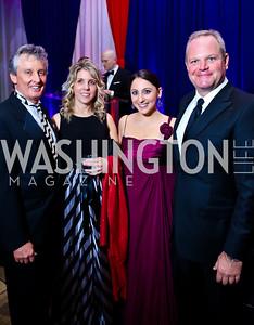 Co-Chair Fred McNair, Kiersten Baier, Eliza Kanovsky, Matt Voorhees. Photo by Tony Powell. 2015 DC Heart Ball. Mandarin Oriental. February 28, 2015
