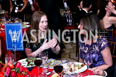 Chelsea Clinton, Heart Ball Chair Kay Kapoor. Photo by Tony Powell. 2015 DC Heart Ball. Mandarin Oriental. February 28, 2015