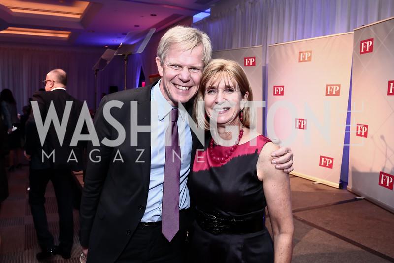 Sweden Amb. Björn Lyrvall, Paula Dobriansky. Photo by Tony Powell. 2015 Diplomat of the Year. Park Hyatt. October 20, 2015