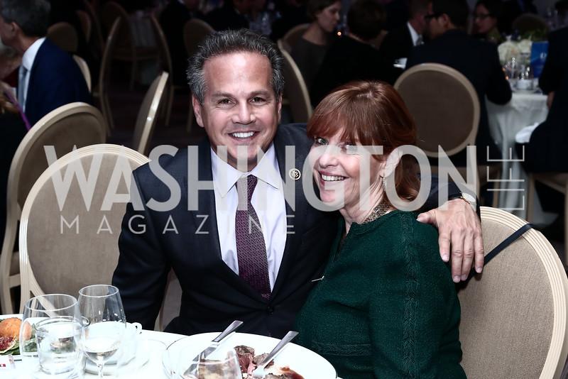 Rep. David Cicilline, Susan Davis. Photo by Tony Powell. 2015 Diplomat of the Year. Park Hyatt. October 20, 2015