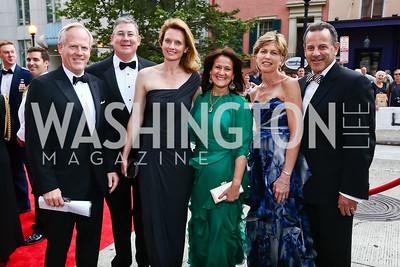 Tim McBride, Gill and Linda Goddard, Anita McBride, Lori and David Hess. Photo by Tony Powell. 2015 Ford's Theatre Gala. May 31, 2015