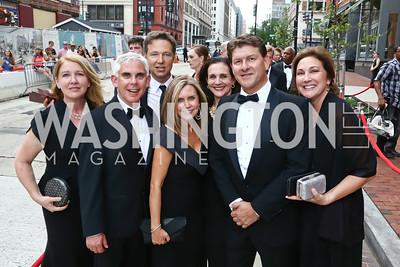 Marietta DePrima, Stu Schreiberg, George Newbern, Gena Haddox, Karen Anderson and Lyndon Boozer, Alice Segars. Photo by Tony Powell. 2015 Ford's Theatre Gala. May 31, 2015