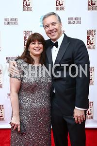 Cynthia and Horacio Rozanski. Photo by Tony Powell. 2015 Ford's Theatre Gala. May 31, 2015