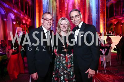 Chris Jennings, Kay Kendall, Arthur Espinoza. Photo by Tony Powell. 2015 Harman Center Gala. November 1, 2015