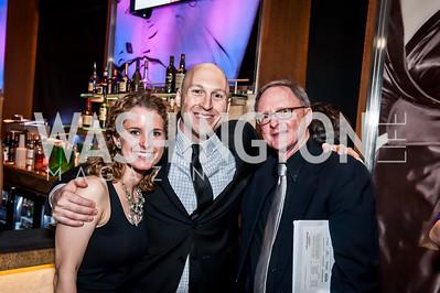 Lindsey Weaver, Christopher Baine, Bob Hebda. Photo by Tony Powell. 2015 Helen Hayes Awards. Lincoln & Howard Theaters. April 6, 2015