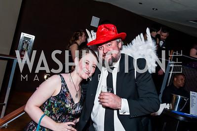 Jillian Rubino, Joe Monahan. Photo by Tony Powell. 2015 Helen Hayes Awards. Lincoln & Howard Theaters. April 6, 2015