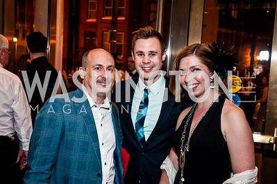 Michael Kyrioglou, Kiernan McGowan, Ravel Bonniwell. Photo by Tony Powell. 2015 Helen Hayes Awards. Lincoln & Howard Theaters. April 6, 2015