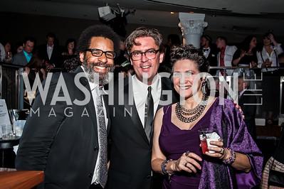 Michael McIntyr, Kurt Crowl, Valeria Leonard. Photo by Tony Powell. 2015 Helen Hayes Awards. Lincoln & Howard Theaters. April 6, 2015