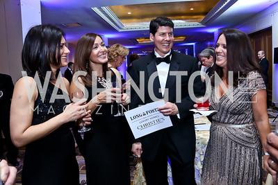 Ruby Warren, Vicki and Ken Leonardo, Gretchen Scott. Photo by Tony Powell. 2015 Heroes Curing Childhood Cancer Gala. Four Seasons. February 21, 2015