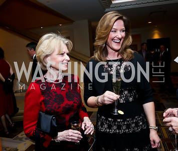 Diana Goldberg, Pam King Sams. Photo by Tony Powell. 2015 Heroes Curing Childhood Cancer Gala. Four Seasons. February 21, 2015