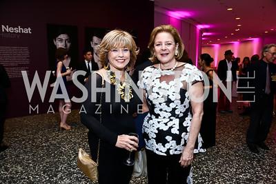 Pat Mitchell, Layla Diba. Photo by Tony Powell. Hirshhorn Museum Facing History Gala. May 16, 2015