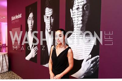 Shirin Neshat. Photo by Tony Powell. Hirshhorn Museum Facing History Gala. May 16, 2015