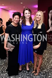 Co-curator Melissa Ho Melissa Ho, Gladstone Gallery's Caroline Luce, Giulia Theodoli. Photo by Tony Powell. Hirshhorn Museum Facing History Gala. May 16, 2015