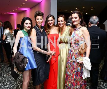 Mahpari Sotoudeh, Gisue Hariri, Sarvi Shahbazi, Nazgol Shahbazi, Shahrzad Jalinous. Photo by Tony Powell. Hirshhorn Museum Facing History Gala. May 16, 2015