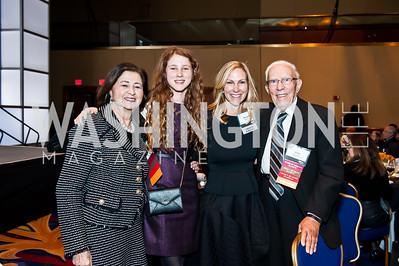 Rina Frankel, Julia Koltin, Sharon Koltin, Smuel Frankel. Photo by Tony Powell. Holocaust Museum National Tribute Dinner. April 15, 2015