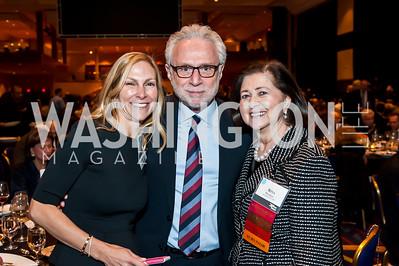 Sharon Koltin, Wolf Blitzer, Rina Frankel. Photo by Tony Powell. Holocaust Museum National Tribute Dinner. April 15, 2015