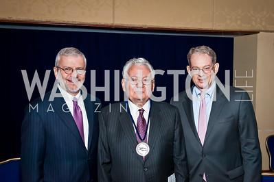 Joshua Bolten, Thomas Buergenthal, Tom Bernstein. Photo by Tony Powell. Holocaust Museum National Tribute Dinner. April 15, 2015