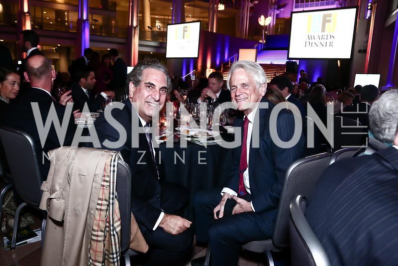 Kevin Goldman, Shelby Coffey. Photo by Tony Powell. 2015 ICFJ Awards Dinner. Reagan Building. November 10, 2015
