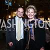 Josh Alkin, Leslie Schweitzer. Photo by Tony Powell. 2015 ICFJ Awards Dinner. Reagan Building. November 10, 2015