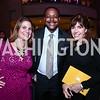 Linda Roth, Leon Harris, Eileen O'Connor. Photo by Tony Powell. 2015 ICFJ Awards Dinner. Reagan Building. November 10, 2015