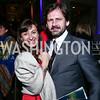 Lynsey Addario and Paul de Bendern. Photo by Tony Powell. 2015 ICFJ Awards Dinner. Reagan Building. November 10, 2015