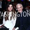 María Chiquinquirá Delgado Díaz, Jorge Ramos. Photo by Tony Powell. 2015 ICFJ Awards Dinner. Reagan Building. November 10, 2015