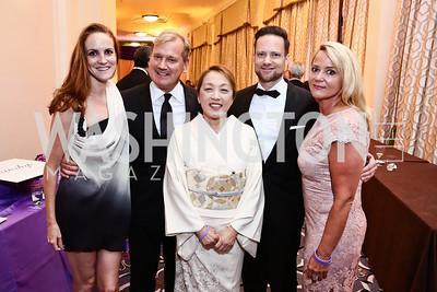 Kate Goodall, Mark McFadden, Sachiko Kuno, David Corson, Lyn McFadden. Photo by Tony Powell. 2015 Hisaoka Gala. Omni Shoreham. September 19, 2015