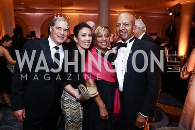 Jim and Mai Abdo, Diane and Tony Williams. Photo by Tony Powell. 2015 Hisaoka Gala. Omni Shoreham. September 19, 2015