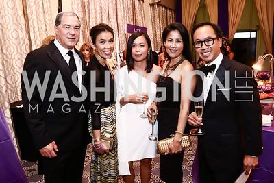 Jim and Mai Abdo, Karen Vinh, Bea and Peter Nguyen. Photo by Tony Powell. 2015 Hisaoka Gala. Omni Shoreham. September 19, 2015