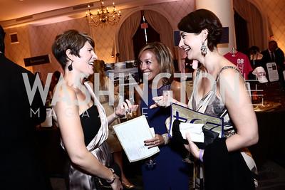 Megan Parker, Amy Richards, Jennie McGihon. Photo by Tony Powell. 2015 Hisaoka Gala. Omni Shoreham. September 19, 2015