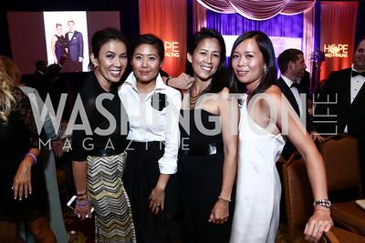 Mai Abdo, Janie Kim, Bea Nguyen, Karen Vinh. Photo by Tony Powell. 2015 Hisaoka Gala. Omni Shoreham. September 19, 2015