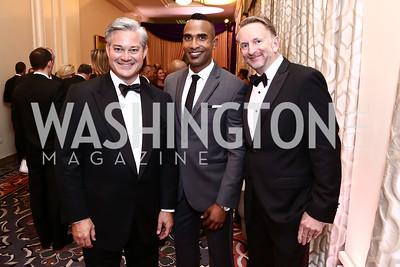 Mark Lowham, Cedric Brown, Ron Herman. Photo by Tony Powell. 2015 Hisaoka Gala. Omni Shoreham. September 19, 2015