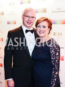 Peter Ellefson and Deborah Rutter. Photo by Tony Powell. 2015 Kennedy Center Honors. December 6, 2015