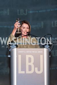 Leader Nancy Pelosi Toast. Photo by Tony Powell. 2015 LBJ Liberty and Justice for All Award Gala. Mellon Auditorium. November 18, 2015