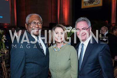 James Clyburn, Nancy Pelosi, Cappy McGarr. Photo by Tony Powell. 2015 LBJ Liberty and Justice for All Award Gala. Mellon Auditorium. November 18, 2015