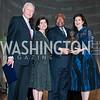 Sen. Orrin Hatch, Luci Baines Johnson, Rep. James Clyburn, Lynda Johnson Robb. Photo by Tony Powell. 2015 LBJ Liberty and Justice for All Award Gala. Mellon Auditorium. November 18, 2015