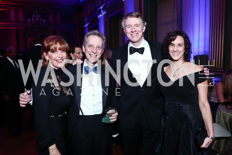 Susan Davis, Honoree Jerry Sorkin, Honoree Tom Monahan, Lisa Sorkin. Photo by Tony Powell. 2015 LUNGevity Musical Celebration of Hope. October 23, 2015