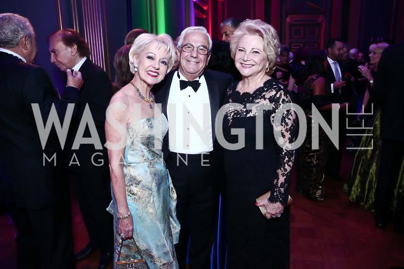 Carol Lascaris, Climis Lascaris, Mary Mochary. Photo by Tony Powell. 2015 LUNGevity Musical Celebration of Hope. October 23, 2015