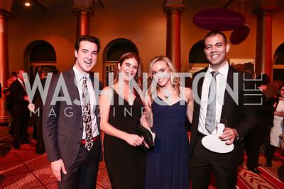 Dean Zacharias, Luz Dimarco, Heather Finch, Waleed Nassar. Photo by Tony Powell. 2015 Lab School Gala. Building Museum. November 12, 2015