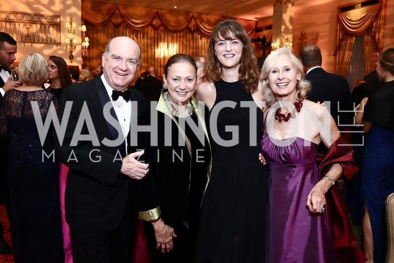 Pedro Burelli, Lizette Corro, Nina Weir, Willee Lewis. Photo by Tony Powell. Mentor Foundation USA International Gala. Mayflower Hotel. September 22, 2015