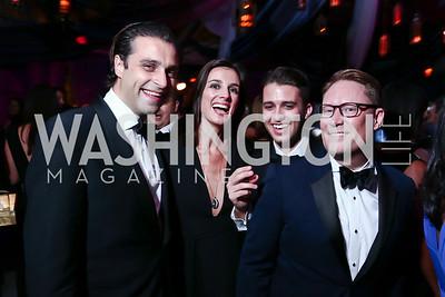 Renaud and Anais de Viel Castel, Michael Zingali, Timothy Lowery. Photo by Tony Powell. 2015 Meridian Ball. October 16, 2015