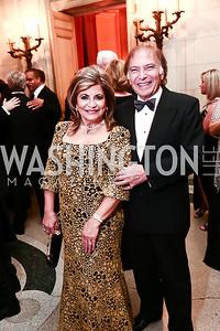 Annie Totah, Leo Sahakian. Photo by Tony Powell. 2015 Meridian Ball. October 16, 2015