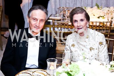 Italy Amb. Claudio Bisogniero, Wilhelmina Holladay. Photo by Tony Powell. 2015 NMWA Gala. April 10, 2015