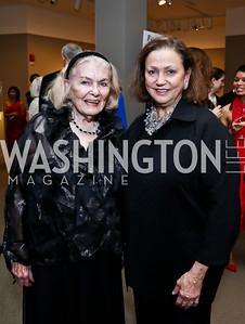 Donna Shor, Lizette Corro. Photo by Tony Powell. 2015 NMWA Gala. April 10, 2015