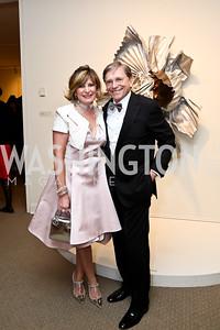Tina Alster, Paul Frazer. Photo by Tony Powell. 2015 NMWA Gala. April 10, 2015