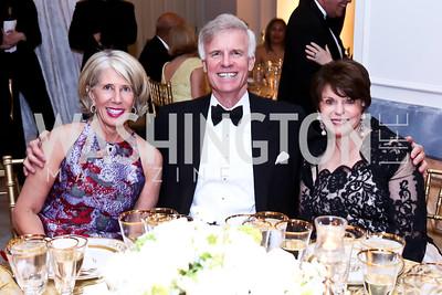 Winton Holladay, Fred Ryan, Marlene Malek. Photo by Tony Powell. 2015 NMWA Gala. April 10, 2015