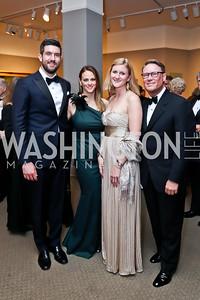 Ryan Burns and City Center Dir. Of Marketing Whitney Burns, Katie Wiacek, City Center GM Timothy Lowery. Photo by Tony Powell. 2015 NMWA Gala. April 10, 2015