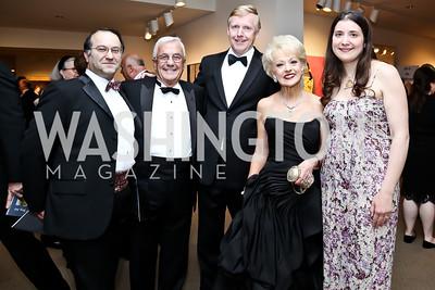 Ali Al-Attar, Climis Lascaris, Norway Amb. Kaare R Aas, Carol Lascaris, Andrea Al-Attar. Photo by Tony Powell. 2015 NMWA Gala. April 10, 2015