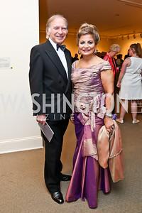 Leo Sahakian, Annie Totah. Photo by Tony Powell. 2015 NMWA Gala. April 10, 2015